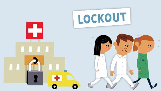 Sygehus, lockout, triste ansatte der sendes hjem